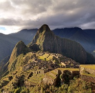 A view of Machu Picchu, a pre-Columbian Inca site in Peru.