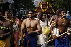 Thaipusam procession in Singapore