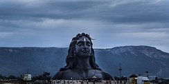 The Adiyogi Shiva statue at Isha Yoga Centre with the Ayyavazhi Thirunamam