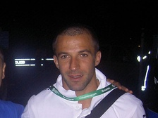 Del Piero after Italy's victorious 2006 World Cup semi-final against hosts Germany.