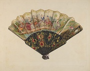 American fan from Index of American Design, National Gallery of Art.
