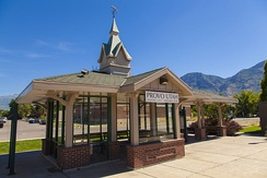 Amtrak's Provo station, July 2013