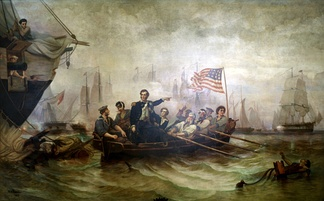 Commodore Oliver Hazard Perry defeats British Navy at the Battle of Lake Erie in 1813.Powell 1873.