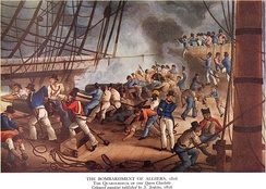 The Bombardment of Algiers in 1816 to support the ultimatum to release European slaves
