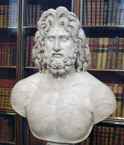 Roman marble colossal head of Zeus, 2nd century AD (British Museum)[80]