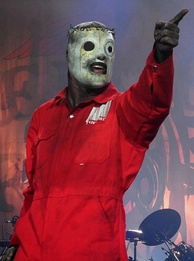 Taylor performing with Slipknot in 2011.