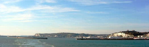The Port of Dover and the white cliffs of Dover