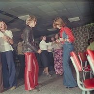 Dancers at an East German discothèque in 1977
