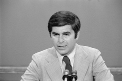 Michael Dukakis speaks on the second day of the convention