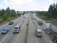 Vancouver portion of Highway 1, near Exit 26