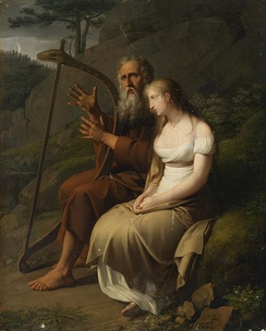 Ossian and Malvina, by Johann Peter Krafft, 1810