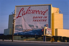 Lakewood Drive-In Theater, 1981.  Photo by John Margolies.