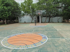 A basketball court in Tamil Nadu, India