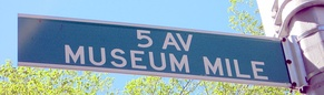 The Museum Mile street sign