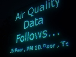 Air quality monitoring, New Delhi, India.
