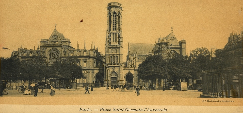 Place Saint Germain l'Auxerrois at turn of the century