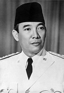 Sukarno (left) and Hatta (right), Indonesia's founding fathers and the first President and Vice President