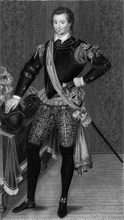 Sir Robert Dudley, son of Lady Douglas Sheffield and Robert Dudley