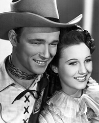 Publicity photo of Rogers and Mary Hart for Shine On, Harvest Moon, 1938