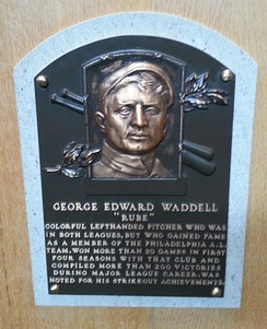 Waddell's plaque at the National Baseball Hall of Fame and Museum