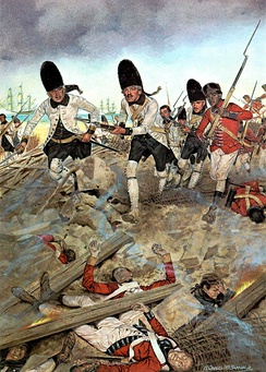A Spanish army defeats British soldiers in the Battle of Pensacola in 1781. In 1783 the Treaty of Paris returns all of Florida to Spain for the return of the Bahamas.