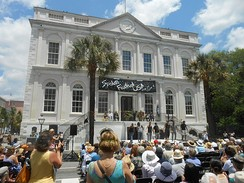 Charleston City Hall is open to tourists for free historical tours. Shown during Spoleto Festival USA