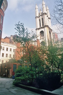 St Michael, Cornhill, View of church from St Michael's Alley.jpg