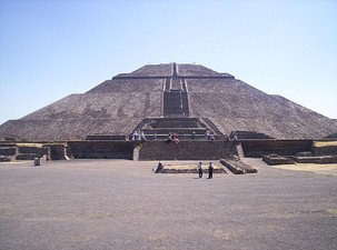 Front view of the Pyramid of the Sun
