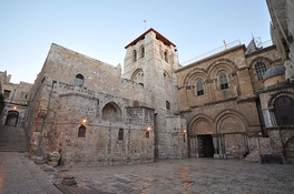 The Church of the Holy Sepulchre in Jerusalem contains, according to traditions dating back to at least the fourth century, the two holiest sites in Christianity.
