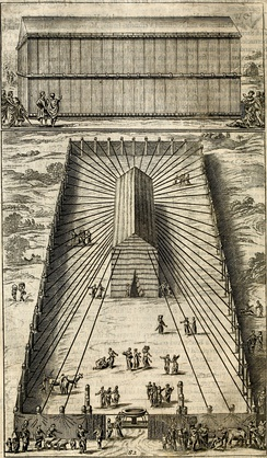 The tabernacle, engraving from Robert Arnauld d'Andilly's 1683 translation of Josephus.