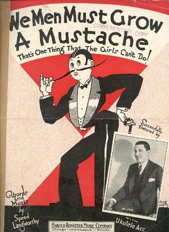 Speed Langworthy's sheet music poking fun at the masculine traits many women adopted during the 1920s