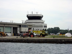 Control tower and fire station