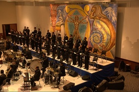 Chorus of the Symphonic Orchestra and Chorus of the Mexican Navy performing at the Monterrey Institute of Technology and Higher Education, Mexico City