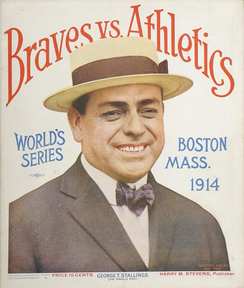 A program from the 1914 World Series, featuring Braves manager George Stallings.
