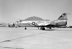 197th Fighter-Interceptor Squadron F-104A, AF Ser. No. 56-0906, about 1961