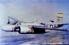Douglas A-26B-15-DL Invader Serial 41-31956 of the 553d Bomb Squadron