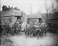 "British troops boarding ""B types"" following the Battle of Arras (May 1917)"