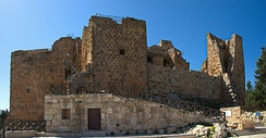 Ajloun Castle in Ajloun built by the Ayyubid Muslim leader Saladin in the 12th century AD used for defence against the Crusades.