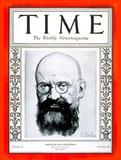 Alfred Hertz on the cover of Time magazine.