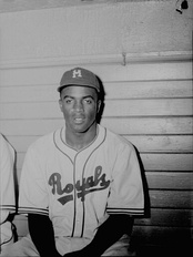 Jackie Robinson with the Triple-A Montreal Royals in July 1946