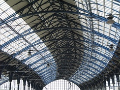 The station roof as refurbished