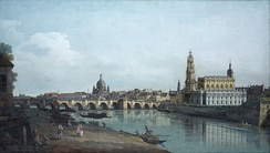 Bernardo Bellotto's Dresden included the Hofkirche during construction.