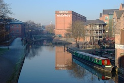 British Waterways building (formerly the Trent Navigation Company warehouse) on the Nottingham Canal