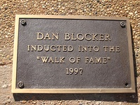 Blocker is listed on the West Texas Walk of Fame in Lubbock.