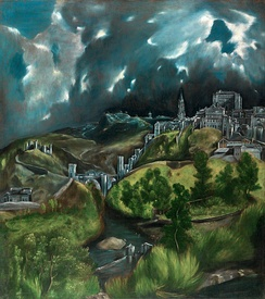 El Greco View of Toledo, 1595/1610 is a Mannerist precursor of 20th-century expressionism.[16]