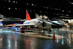 F-102A in the Cold War Gallery of the National Museum of the United States Air Force