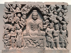 Enlightenment of Buddha, Kushan dynasty, late 2nd to early 3rd century CE, Gandhara.