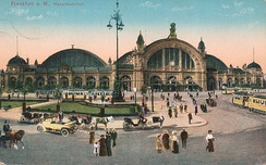 A postcard image of the Hauptbahnhof circa 1915