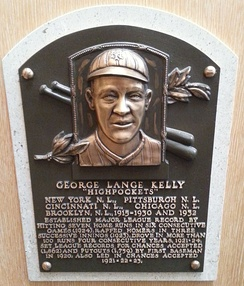 Kelly's plaque at the National Baseball Hall of Fame and Museum