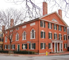 Hamilton Hall was built in 1805 by Samuel McIntire in Salem, Massachusetts.
